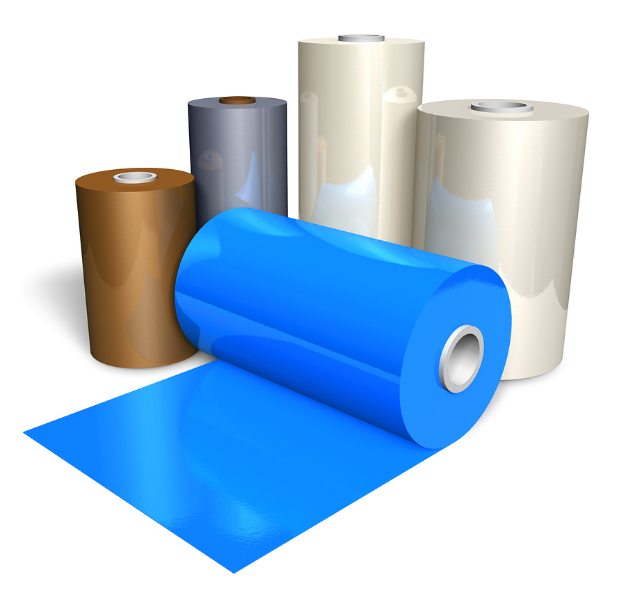 Rolls of rubber sheets